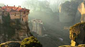 Monasteries of Meteora is famous for being perched up on the rocks.