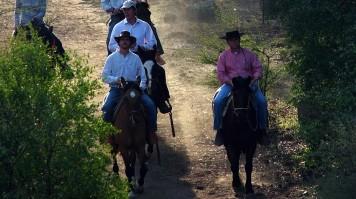 Horse riding wine tour in Montgras