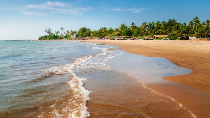 Morjim beach in Goa