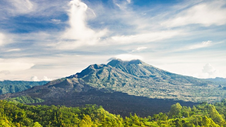 Mount Batur hike has relatively easy trails