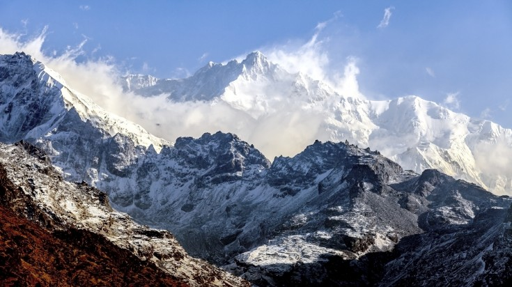 Mount Kanchenjunga, the second highest Himalaya peak of Nepal