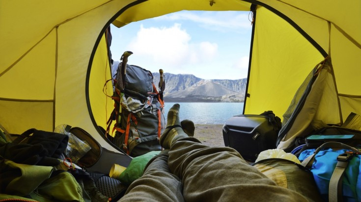 Camps on the Mount Rinjani trek will be near the Segara Anak lake