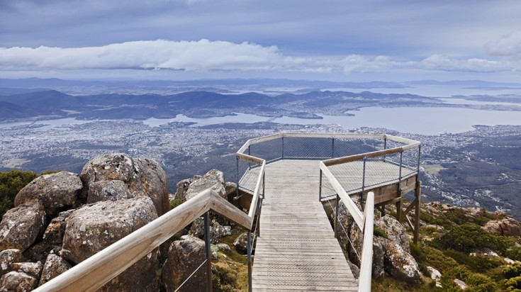 Climbing up Mount Wellington is a great way to start a tour in Tasmania.