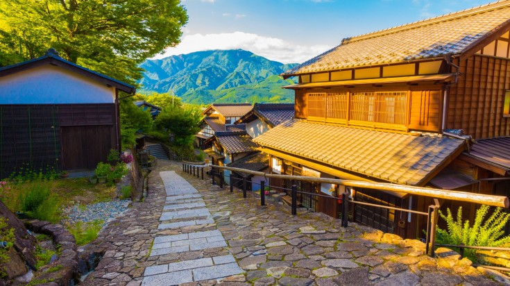 The Nakasendo trail winds through lovely mountainous countryside and inns, ancient forests and more.