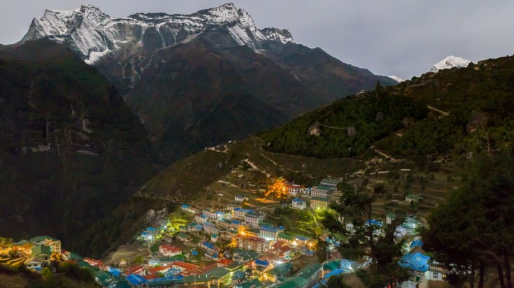 Namche Bazar, the capital of the Everest Region