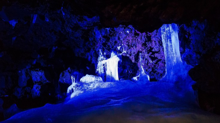 Apart from climbing Mount Fuji, you can also check out the 153m long Narusawa cave, a nationally designated monument in Japan.