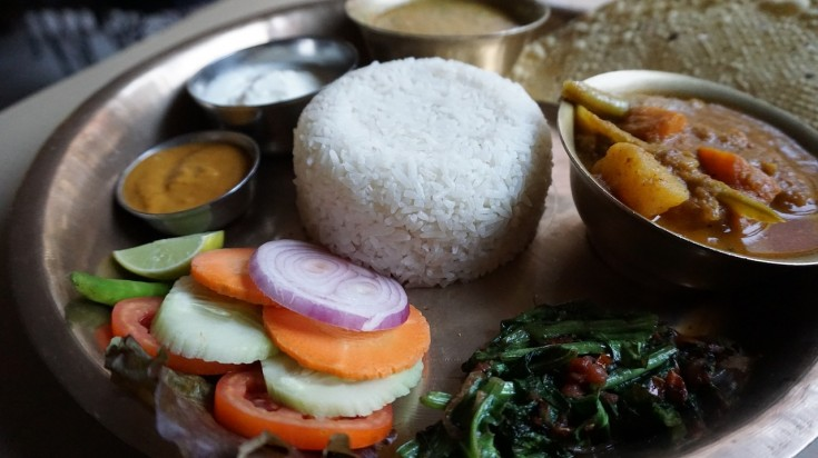 Dal-Bhat, plateful of deliciousness is one of the things to try in Nepal