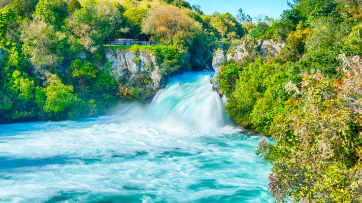 Huka Falls in New Zealand is a must see for all luxury travelers