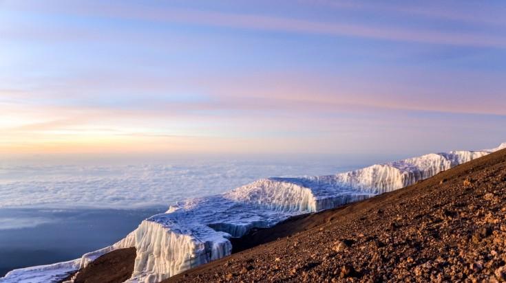 Glacial fields in Kilimanjaro National Park