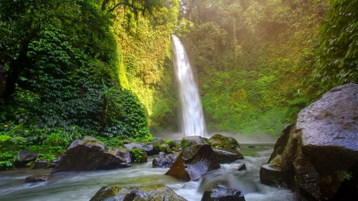 Nungnung waterfall is one of the most picturesque waterfalls in Indonesia.