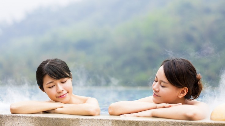 Onsens are Japanese hot spring and such onsens are scattered all over Japan