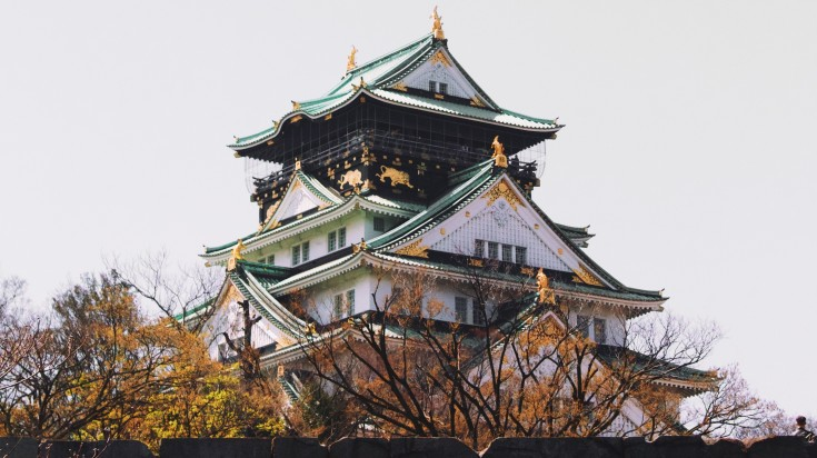 The Japan Golden Route also takes you to Osaka palace, a true beauty of Osaka.