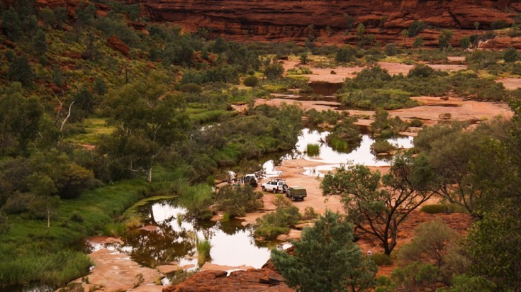 Finke Gorge National Park is a protected area nearby Alice Springs.