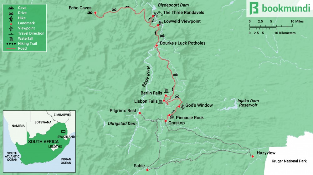 Panorama Route South Africa Map.Panorama Route In Mpumalanga A Stupendous Journey Bookmundi