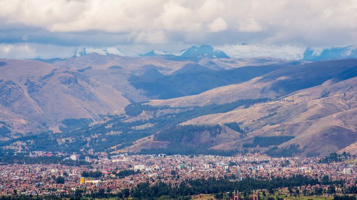 Aerial view of Huancayo the capital city of the province of Huancayo