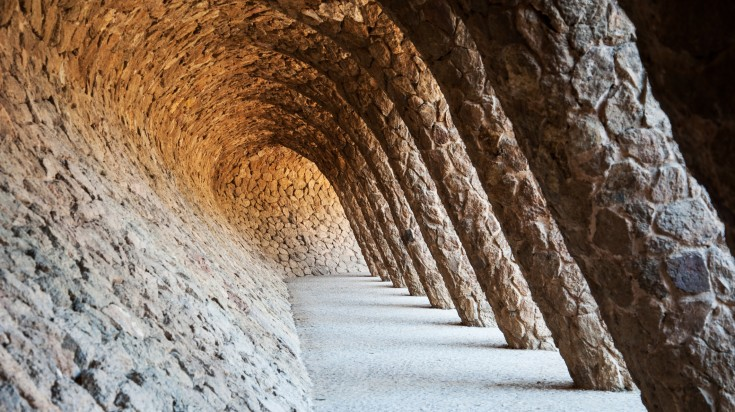 Park Guell laundry room portico