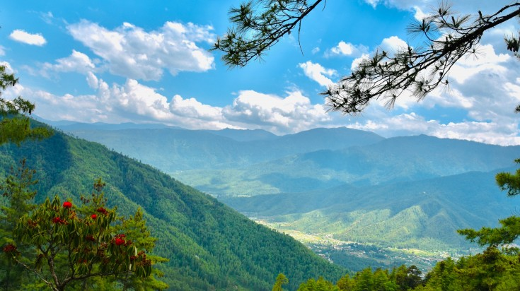 Paro is a small valley of Bhutan.