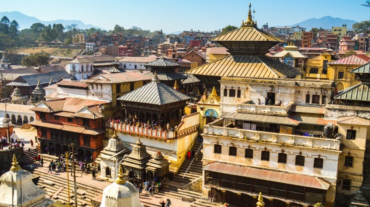 Pashupatinath Stupa is a religious site dedicated to lord Shiva in Nepal.