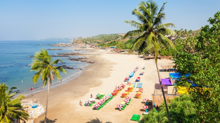 Patnem beach is one of the best beaches in the continent