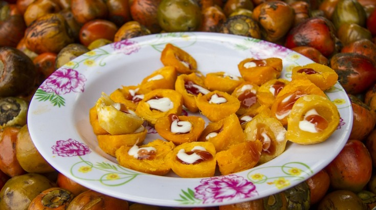 A native Costa Rican fruit, Pejibayes are savory to taste