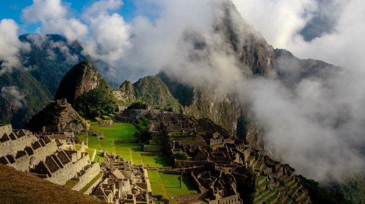 Machu Picchu in the Andes Mountains is one of the most visited destination
