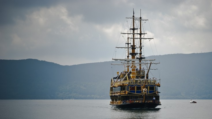 There are three ships in Lake Ashi that replicates a pirate ship in Hakone.