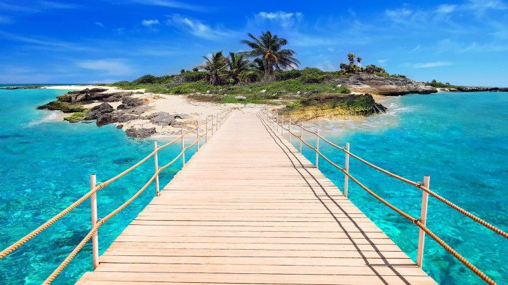 Playa del Carmen in Mexico is famous for its impressive beaches and parties