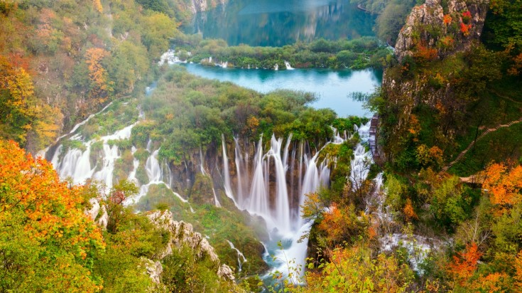 The Plitvice National park is a UNESCO heritage site in Croatia.