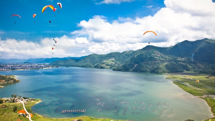 Pokhara is one of the best places for paragliding due to its