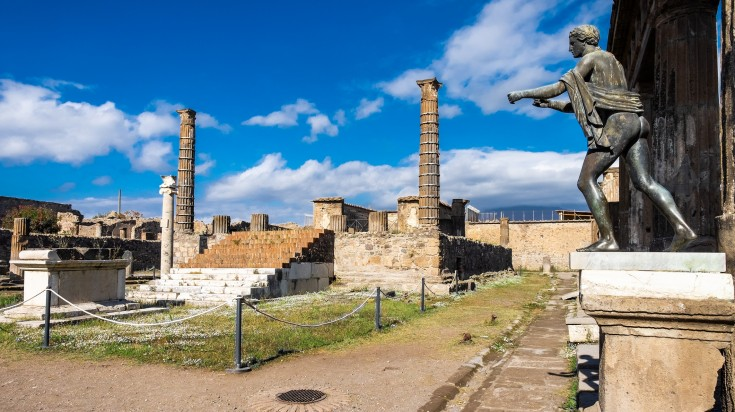 One of the famous attractions inside the Pompeii ruins.