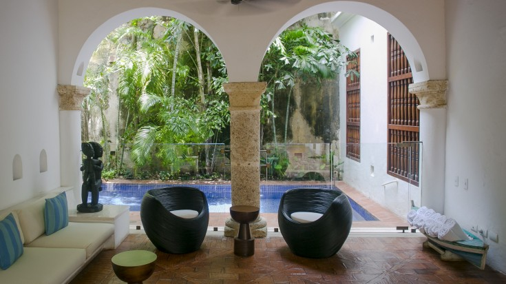 Serene poolside at Hotel Quadrifolio makes it the best hotel in Colombia