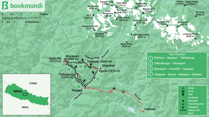 Poonhill Trek Map