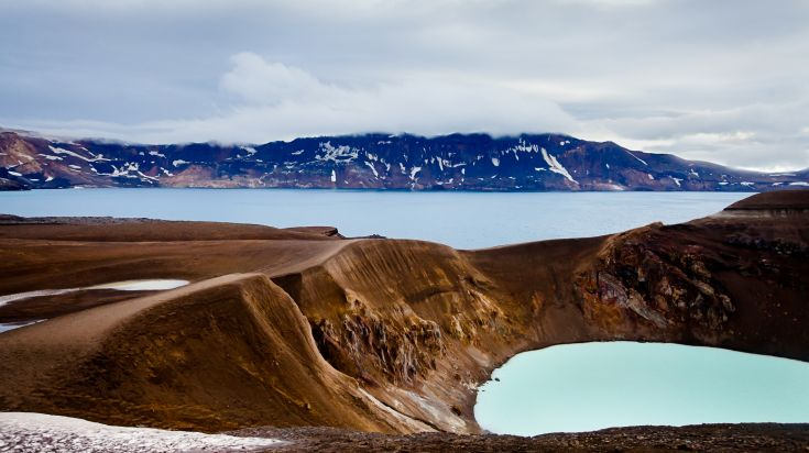 Askja is a popular volcano in Iceland.