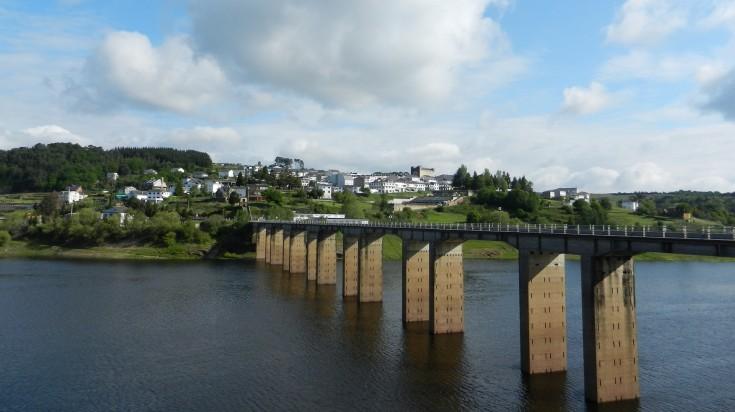 A bridge across the Mino river in Portomarin