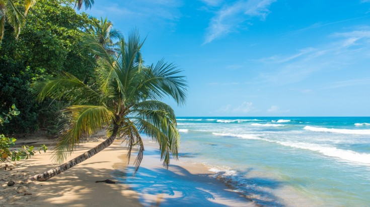 Beaches in Caribbean Coast of Costa Rica.