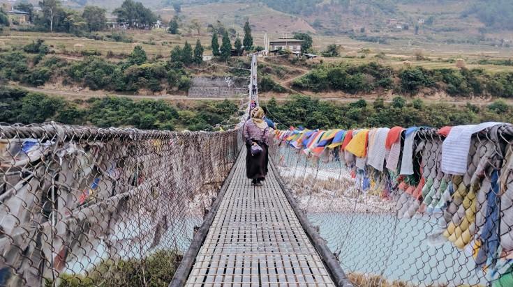 Punakha, the former capital of Bhutan.