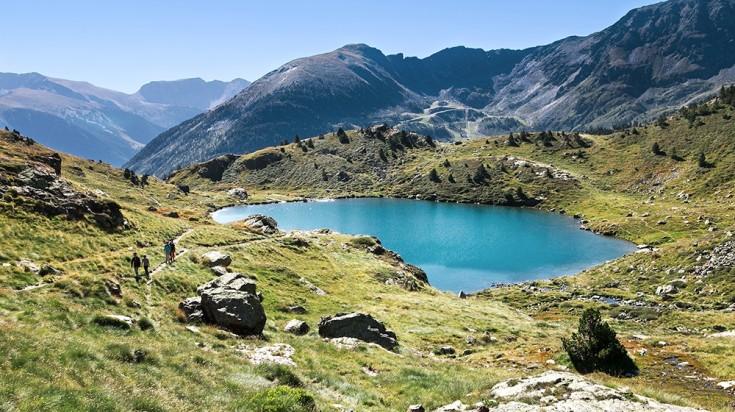 Pyrenees hiking landscape