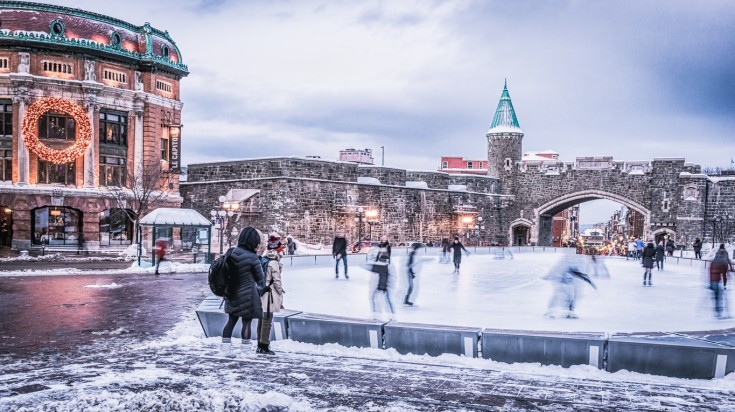 Quebec city is the oldest city in Canada and is rich in history.