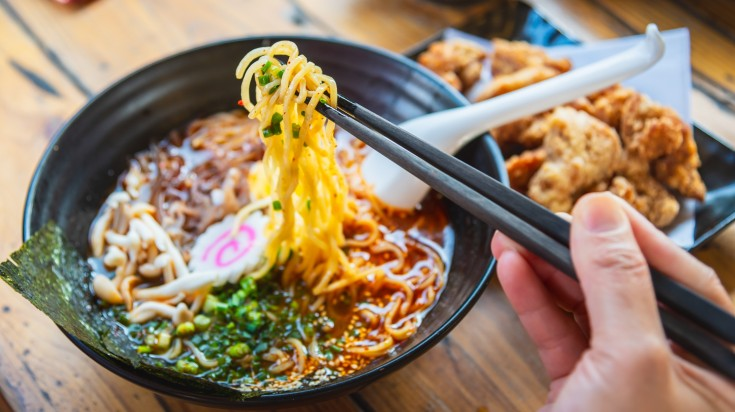 Japan's noodle soup, ramen is a very famous Japanese food and a must try.