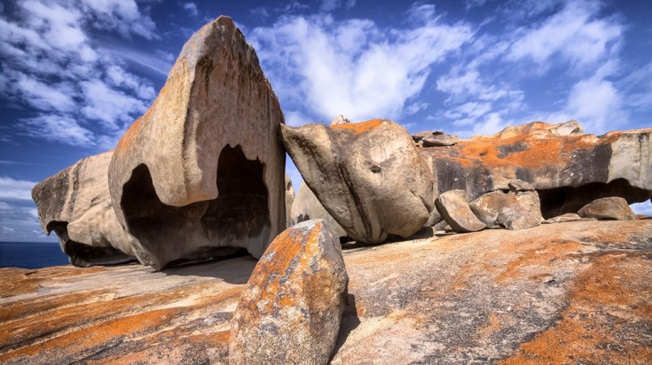 The Remarkable Rocks got their form after millions of years