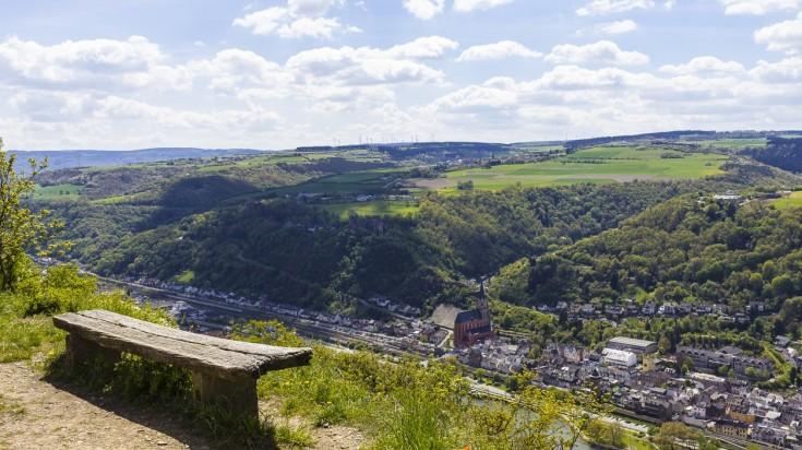 Rheinsteig hiking trails passes through many villages in Germany