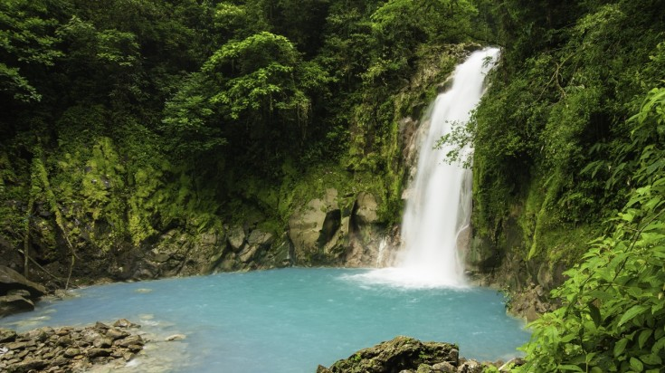Rio Celeste waterfall in Costa Rica is indeed a beautiful sight.