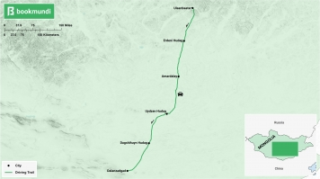 Gobi Desert road trip map