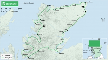 North Coast 500 road trip map