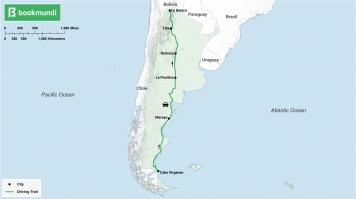 Ruta 40 road trip map