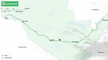 Silk Road road trip map