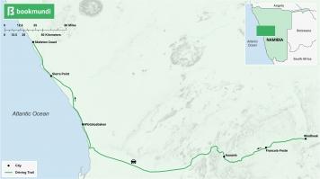 Skeleton Coast road trip map