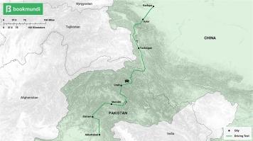 The Karakoram Highway map