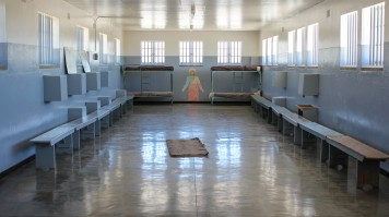 A Prison cell in Robben Island