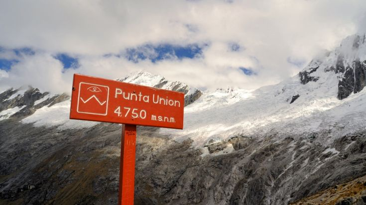 Trekkers will pass the Punta Union Pass during the Santa Cruz trek